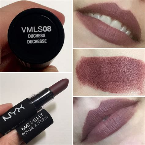 nyx velvet matte lipstick in duchess a beautiful