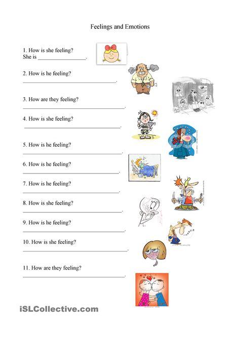 Feelings Worksheet by Feelings And Emotions Worksheet Feelings