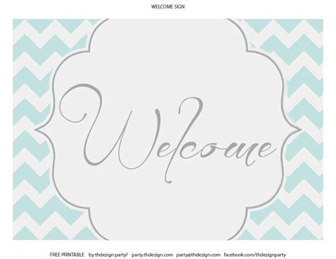 free welcome card template free chevron printables from thdezign catch