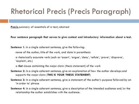 rhetorical precis template rhetorical pr 233 cis and