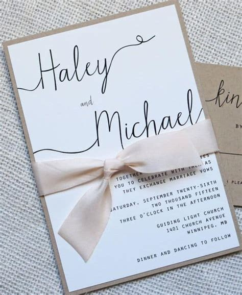 Wedding Invitations Simple by Simple Wedding Invitations Best Photos Wedding Ideas