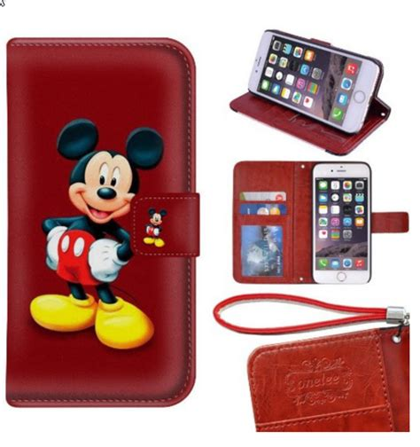 Guess 2in1 disney discovery mickey mouse wallet flip stand cell