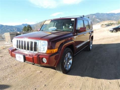 2008 Jeep Commander Overland For Sale Sell Used 2008 Jeep Commander 4wd 4dr Overland In Colorado