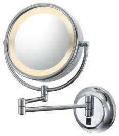 Vanity Lighted Mirrow Aptations Chrome Hardwired Swing Arm Lighted Vanity Mirror