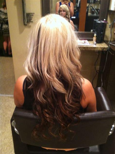 hairstyles blonde on top brown underneath blonde with brown underneath hair styles updos colors by