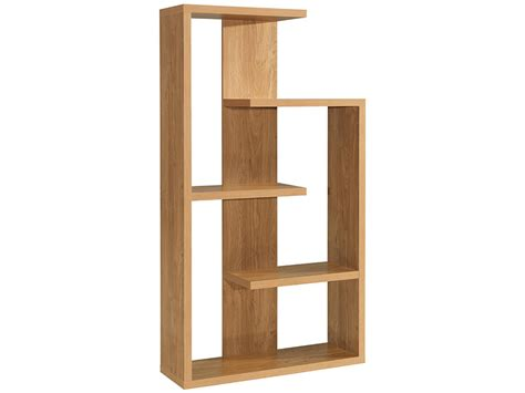 oak finish storage shelf room divider shelves display