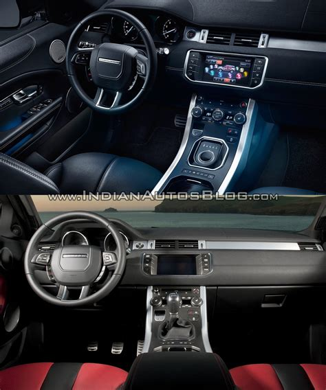 land rover range rover 2016 interior 2016 range rover evoque facelift vs 2015 evoque old vs new