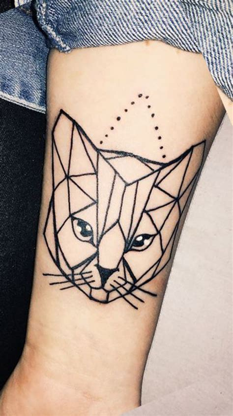 geometric cat tattoo best 25 geometric sleeve ideas on