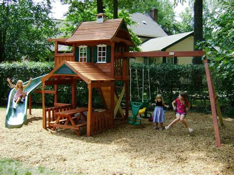 Playsets For Small Backyards by Backyard Playground Designs For This For All