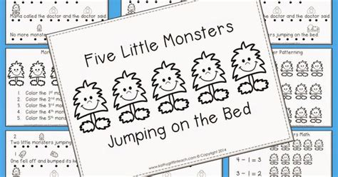 five little monsters jumping on the bed five little monsters jumping on the bed free fluency book