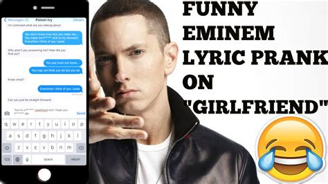 song for gf song lyric text prank on quot quot puke by eminem