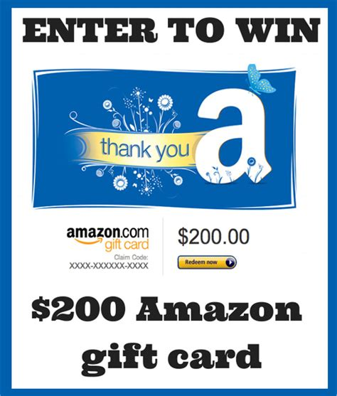 Enter Amazon Gift Card - last day enter to win a 200 amazon gift card