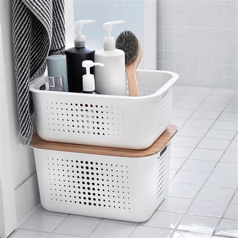 container store bathroom storage incredible white nordic
