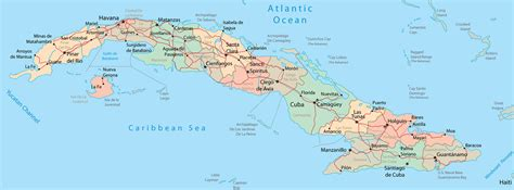 map us and cuba detailed administrative and road map of cuba cuba