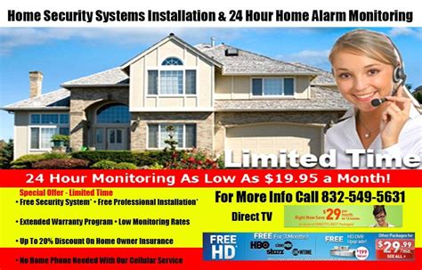 home security system ad from new wave adz indoor digital
