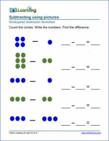 free preschool amp kindergarten subtraction worksheets