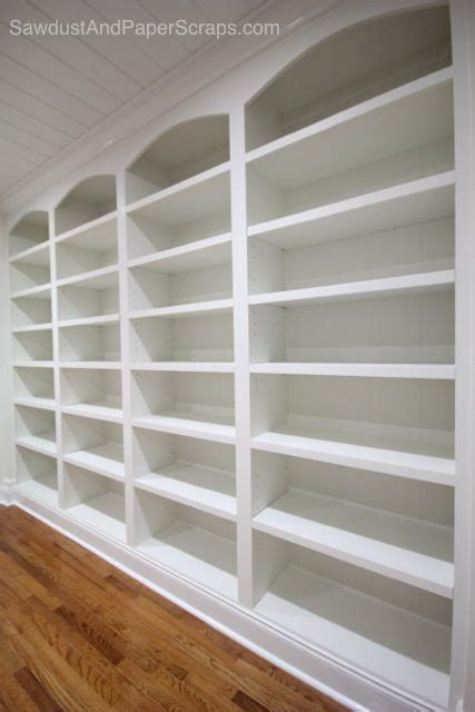 diy library  white built ins fixed  adjustable