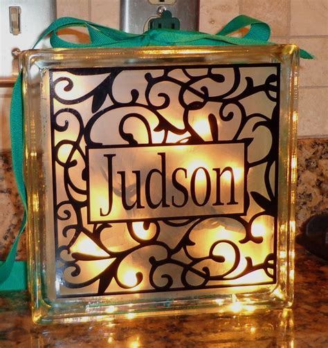 how to make glass blocks with lights 103 best images about silhouette ideas on pinterest