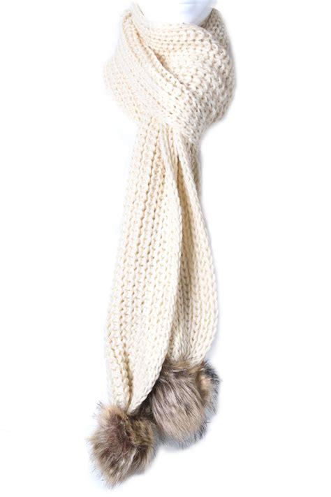 knit a pom pom knit pom pom scarf scarves
