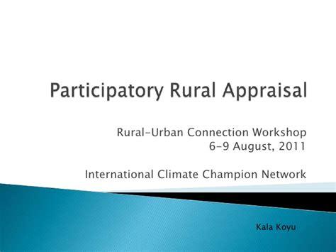 Pra Participatory Rural Appraisal participatory rural appraisal kala