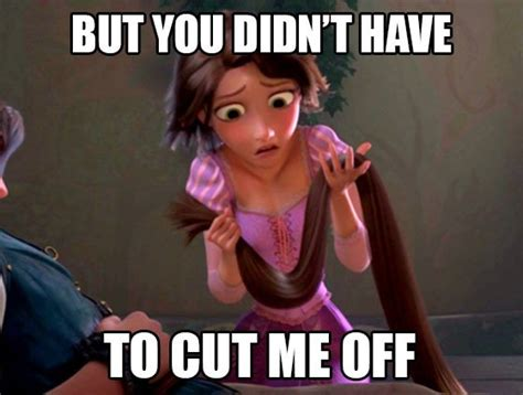 Short Hair Meme - tangled memes funny jokes about disney animated movie