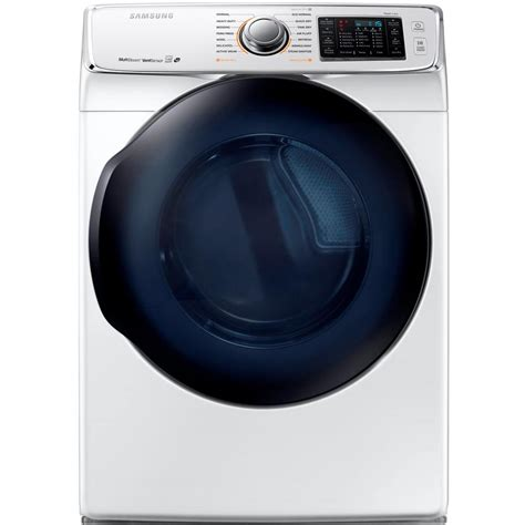 samsung dryer samsung 7 5 cu ft gas dryer with steam in white energy dv50k7500gw the home depot