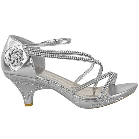 Heel Sandals For Wedding by New Womens Low Heel Bridal Wedding Sandal