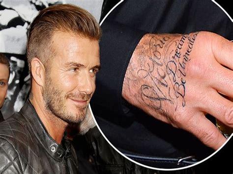 tattoo david beckham significado david beckham se hace un tatuaje en la mano