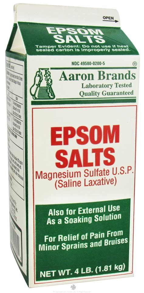 Epsom Detox For A Laxative by Buy Aaron Industries Epsom Salts Magnesium Sulfate 4