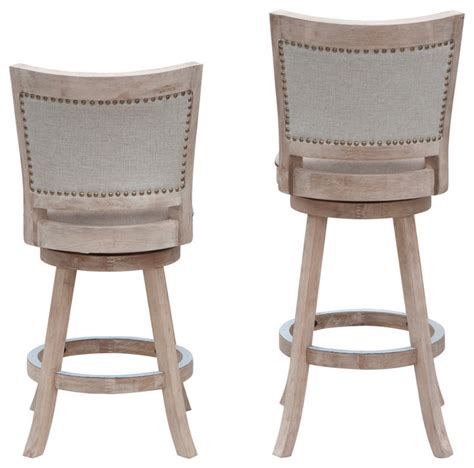 White Washed Counter Stools by Boraam White Washed Counter Stool With Wire Brush Finish