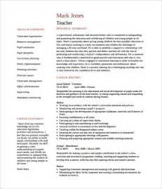 Curriculum Vitae Sles For Teachers Pdf 51 Resume Templates Free Sle Exle Format Free Premium Templates