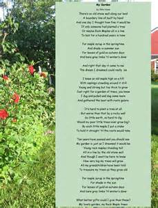 Garden Poems by Garden 98 Years And Still Writing Okie S Poems