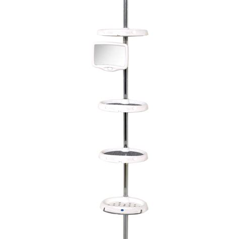 zenith bathtub and shower pole caddy white zenith products corp upc barcode upcitemdb com