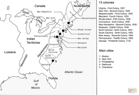 colonie map game blank map of 13 colonies my blog