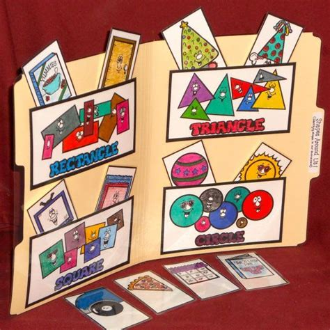 file folder games for teaching shapes file folder game shapes shapes around us by