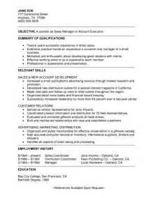 Executive Summary Resume Sles by Resume Executive Summary Getessay Biz