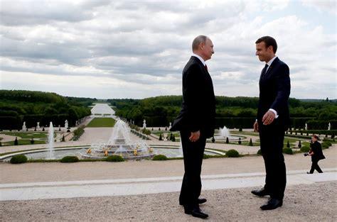 emmanuel macron versailles macron and putin s awkward first date politico