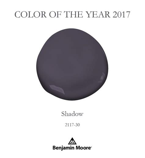 benjamin moore s shadow 2017 benjamin moore color of the year shadow 2117 30