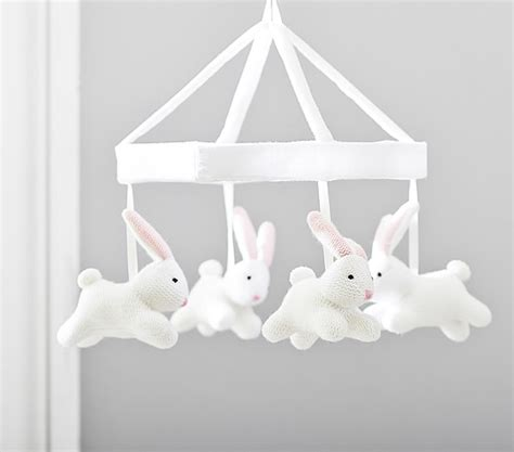 Pottery Barn Crib Mobile by Bunny Knit Crib Mobile Pottery Barn