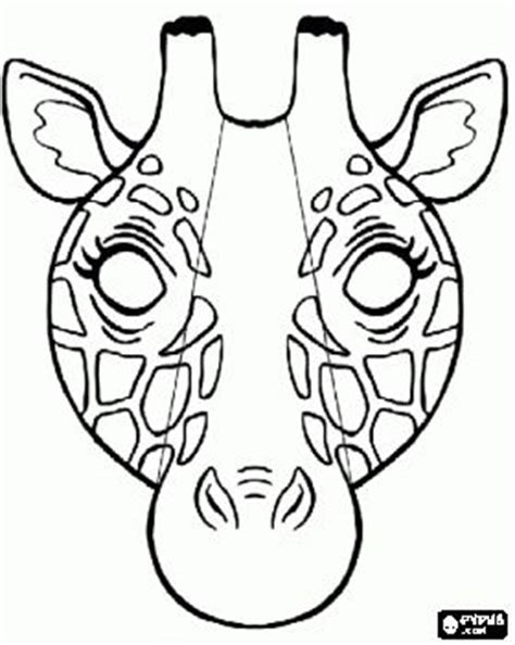 printable giraffe mask template giraffe mask coloring page lots of coloring pages here