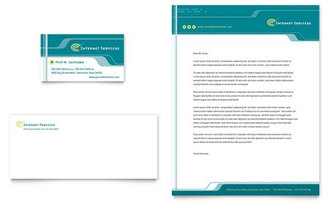 internet service provider business card letterhead
