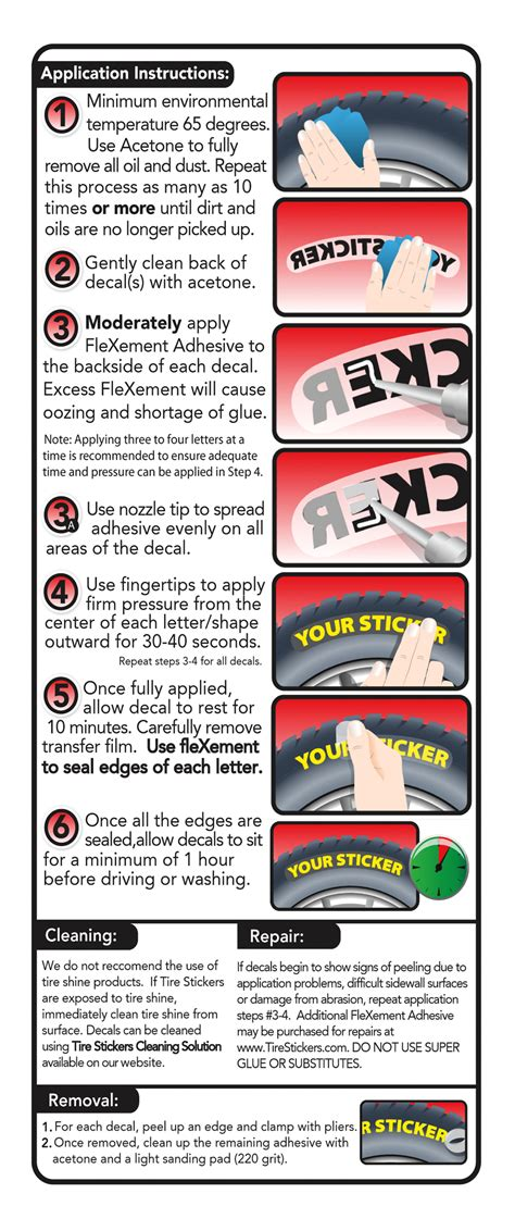 Permanent Tire Stickers permanent tire stickers application guide tire