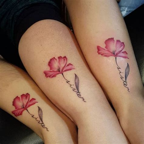 cute sister tattoos the 25 best flower designs ideas on
