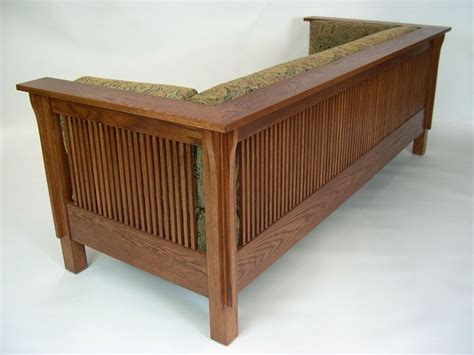 Prairie Style Sofa by Mission Arts And Crafts Stickley Style Prairie Spindle
