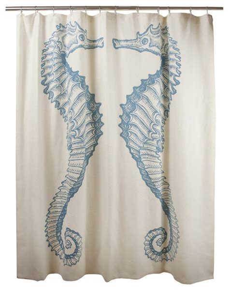 beach style shower curtains seahorse shower curtain beach style shower curtains