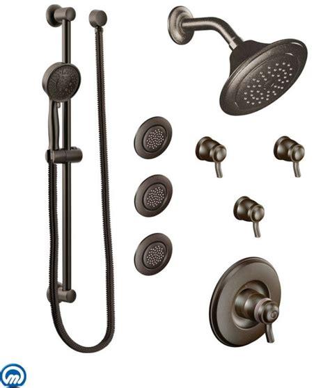 Moen Thermostatic Shower Valve by Moen 2096orb Rubbed Bronze Thermostatic Shower System With Shower 3 Volume Controls 3