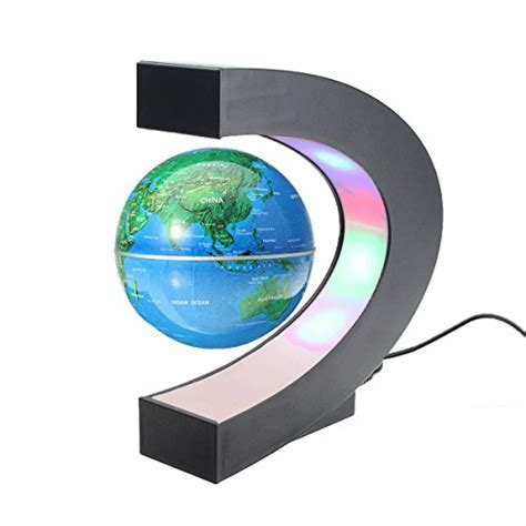 Floating Magnetic Desk by Meco 3 Shape Magnetic Levitation Floating Globe