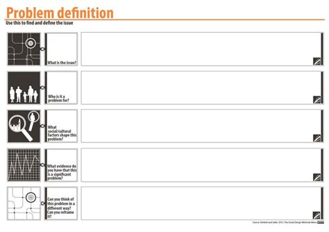 Design Problem Definition | problem definition template purpose to narrow down from