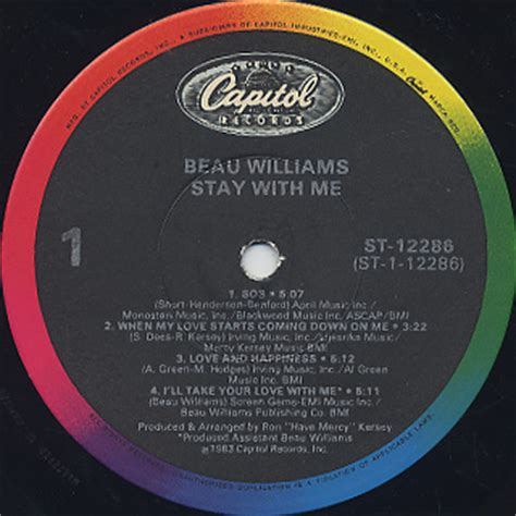beau williams stay with me lp 1983 beau williams stay with me lp capitol 中古レコード通販 大阪