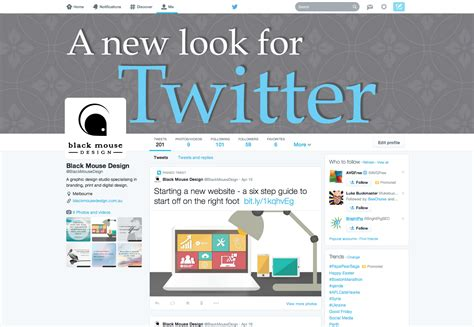 twitter new layout 2014 a new look for twitter black mouse design